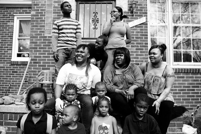 Family of Shelley Hilliard. Photo by Kenny Corbin