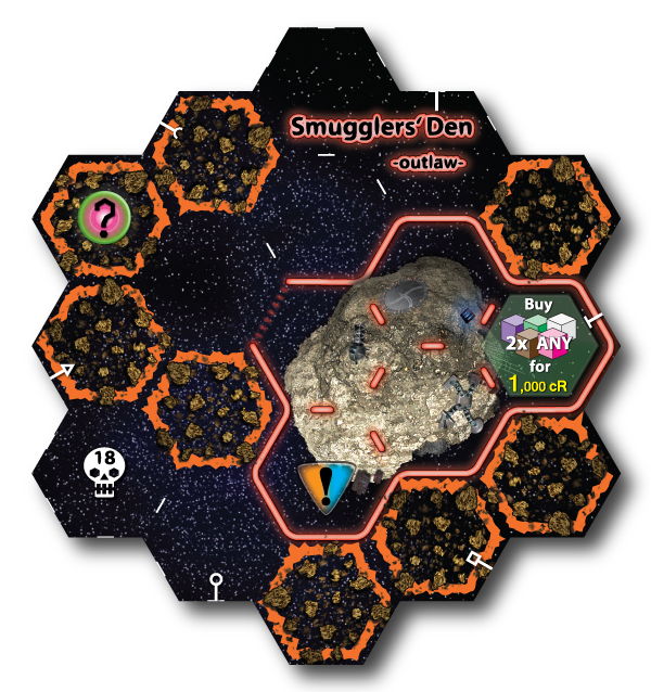 Unlocked new sector tile - Smugglers Den