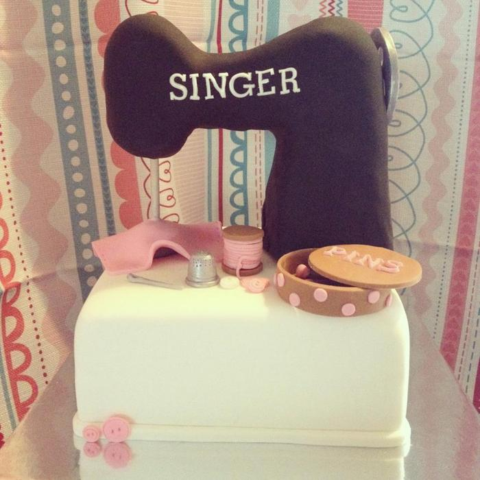 Sewing Machine cake by our Cake Lady Racene!
