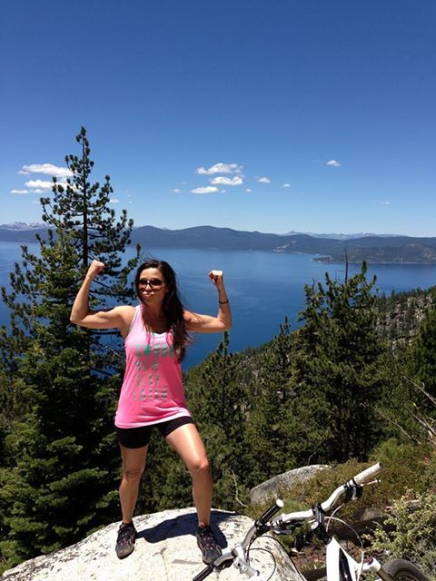 """Sooo stoked on my new Swoob tank, thanks Swoob!"" - Steffany, Tahoe Flume Trail 2013"