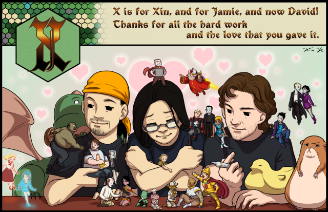 X is for Xin, Jamie and David