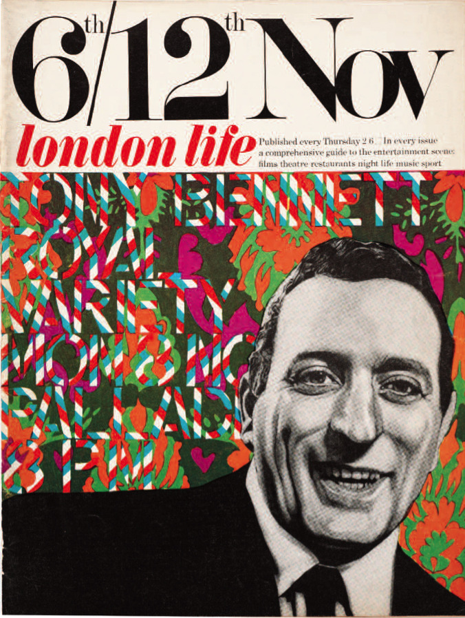 Tony Bennett illustration for London Life, 1966