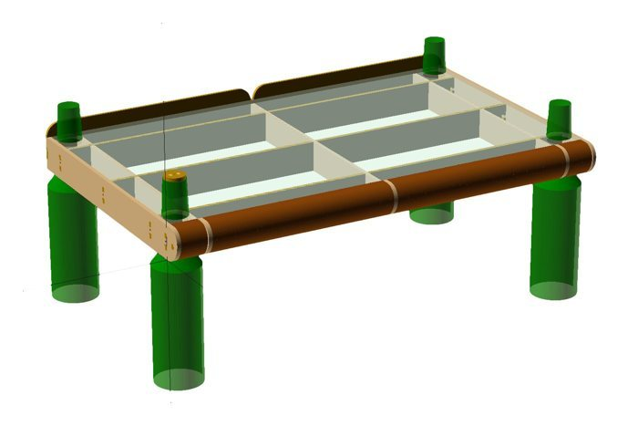 CAD rendered design of the SG Standing, ready for prototyping