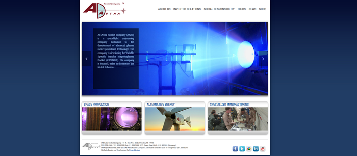 New Ad Astra Website