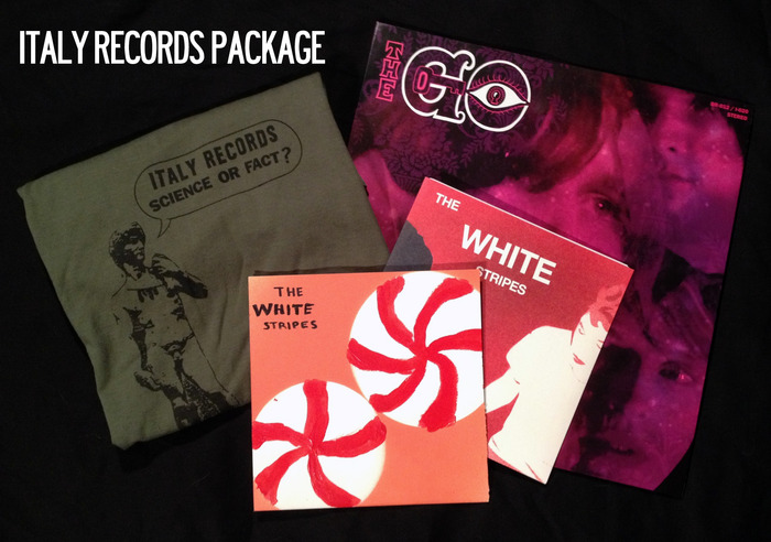 Italy Records Package includes HAND PAINTED White Stripes EP.