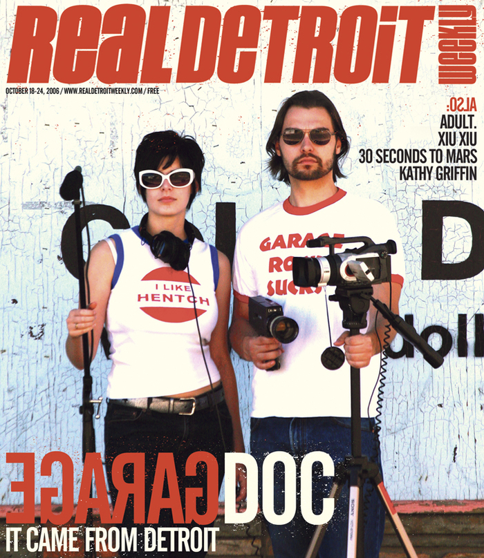 James and Sarah on the cover of Real Detroit Weekly.