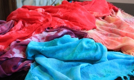 Hand-Dyed Scarfs!