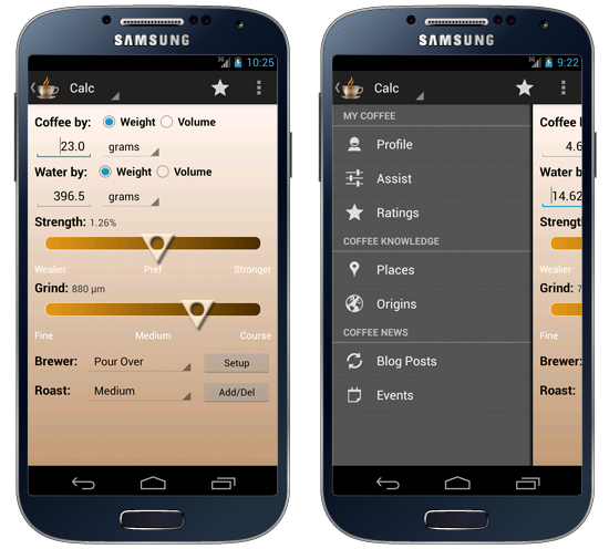 A UI That Brings Forward the Physical Parameters You Can Control in the Brewing Process