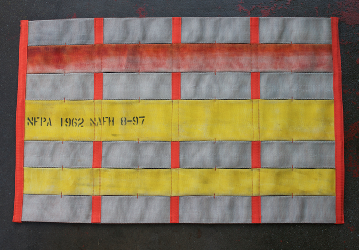 $185 or more: Get a 2x3' mat made with 2 - 3 solid colors of fire hose • Orange Trim / Webbing.