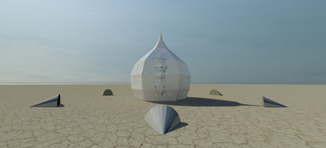 The MerKaBa dome by day (computer rendering