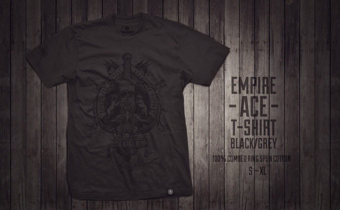 New Grey/Black Empire Ace Shirt - Click to enlarge