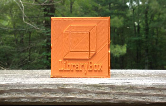 Regular Edition Orange 3D Printed LibraryBox container