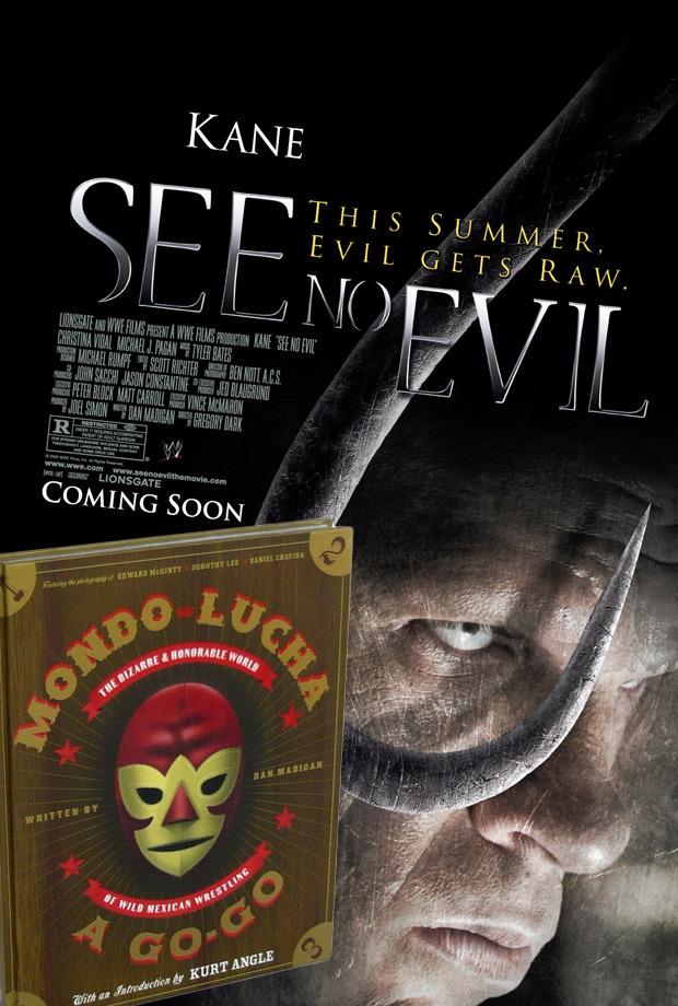 See No Evil Movie Poster and Mondo Lucha A-Go-Go Book