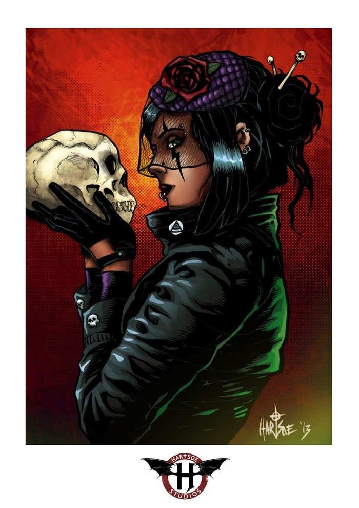 "RAZOR: KISS OF DEATH SIGNED/REMARK PRINT 11"" BY 17""  $26K stretch goal"