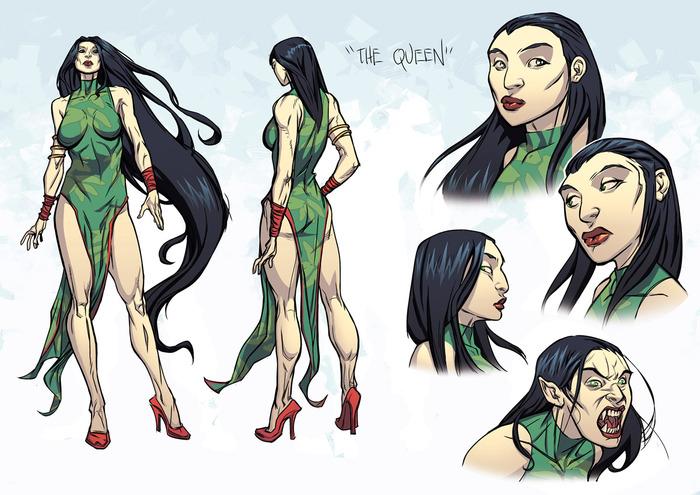Kiang Shi Empress character design color.