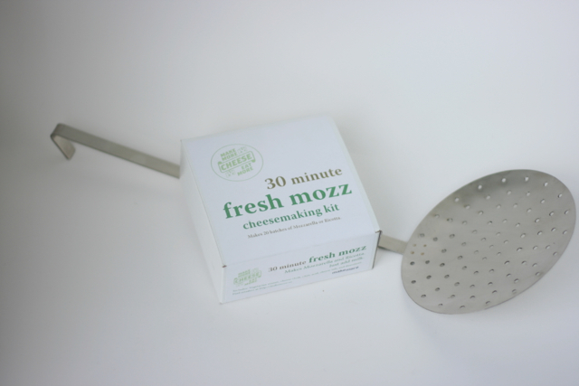 Mozzarella and Ricotta Making Kit with Stainless Skimmer - Everything but the Milk for 20 Batches [Kit only $35 pledge, Kit and Skimmer in $150 pledge]