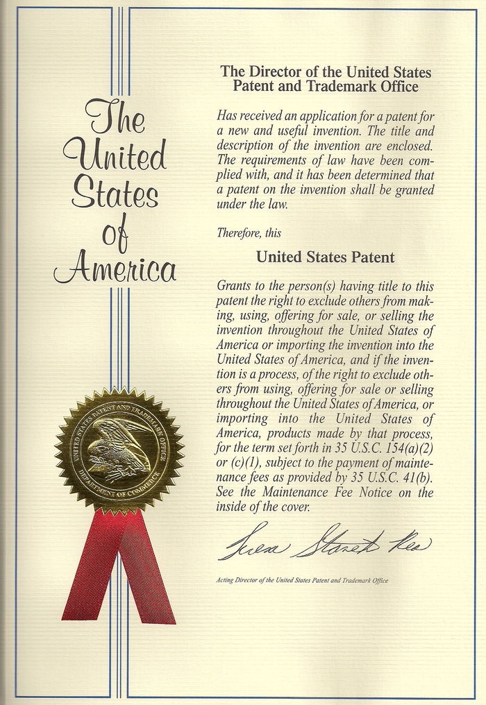 U.S. Patent #8,405,615-B1  Issued: 26MAR2013