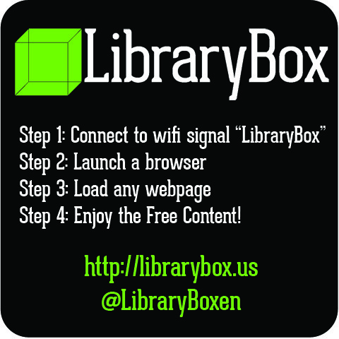 LibraryBox Instructions Weatherproof Sticker