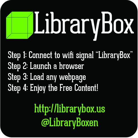LibraryBox Instructions Weatherproof Sticker