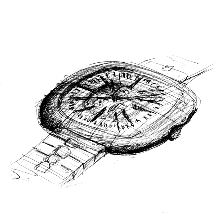reward 350 US$ sketches 2 of 3 of th Canopus watch limited edition of 888 pieces handsigned lithograph by Ilkka Suppanen