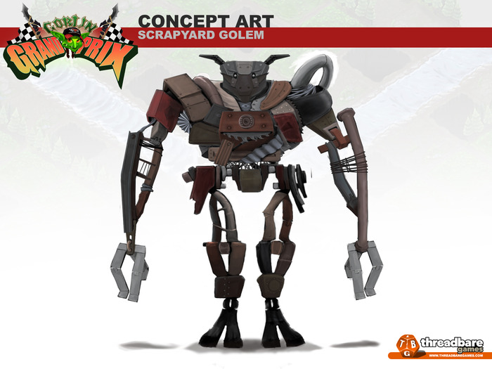 A more junkyard styled golem, cobbled together from scrap...