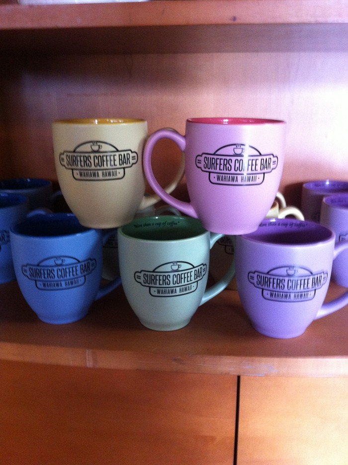 Surfers Coffee Bar Mugs