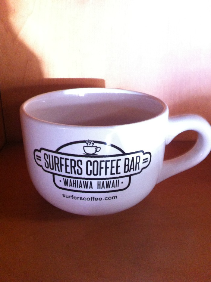 Surfers Coffee Latte Cup