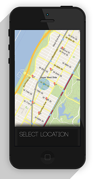 Location select screen