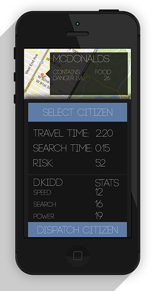Citizen dispatch screen