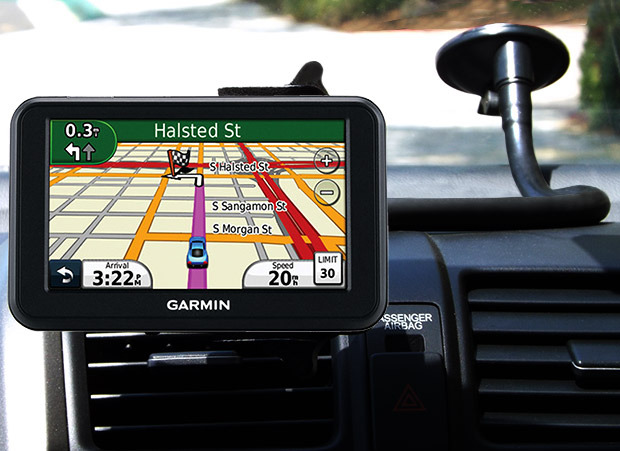 CelGo can hold a variety of devices, including the Garmin GPS shown here