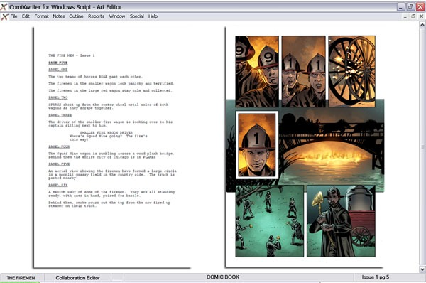 Beta Prototype: Page 5 THE FIREMEN Story Glenn Farrington Art Steve Bryant