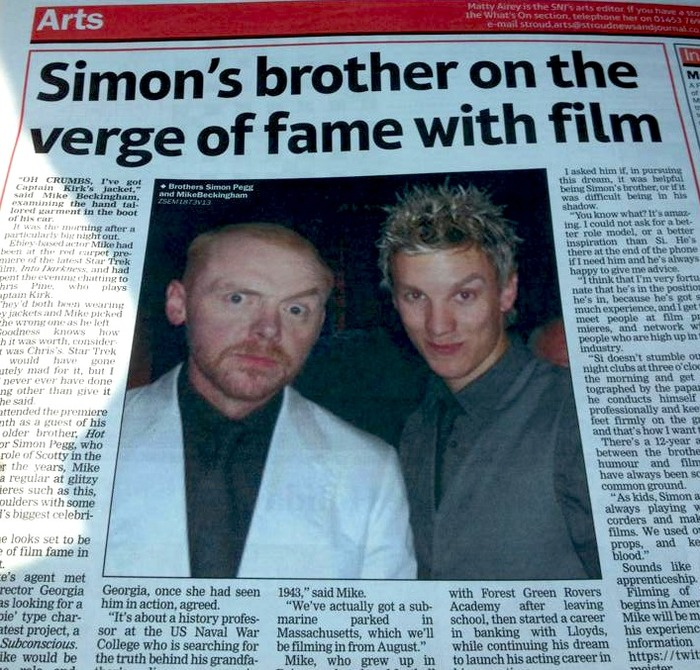 Simon Pegg and his Brother - Mike!