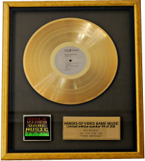 Ooooh, Shiny, Shiny Gold Disk! Hang it proud whilst playing it loud! (mock-up)