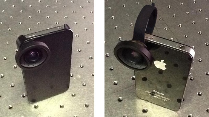Connect our wide-angle lens using either our smartphone case (supplied with our BubbleScope) or a universal clip (supplied in our BubblePod Pro Pack).