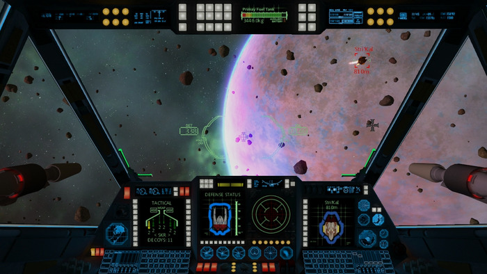 Asteroid fields are a good challenge - combat in asteroid fields is exhilarating!