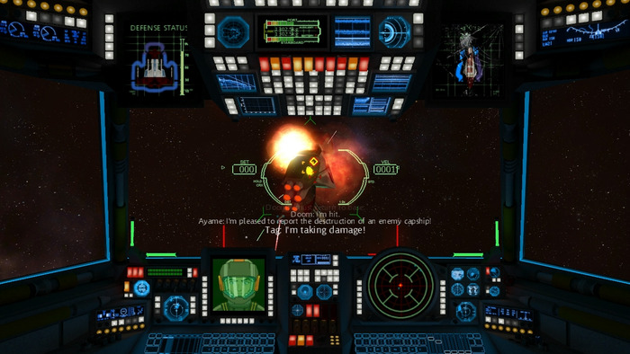 Capital ships add challenge and variety to the game.