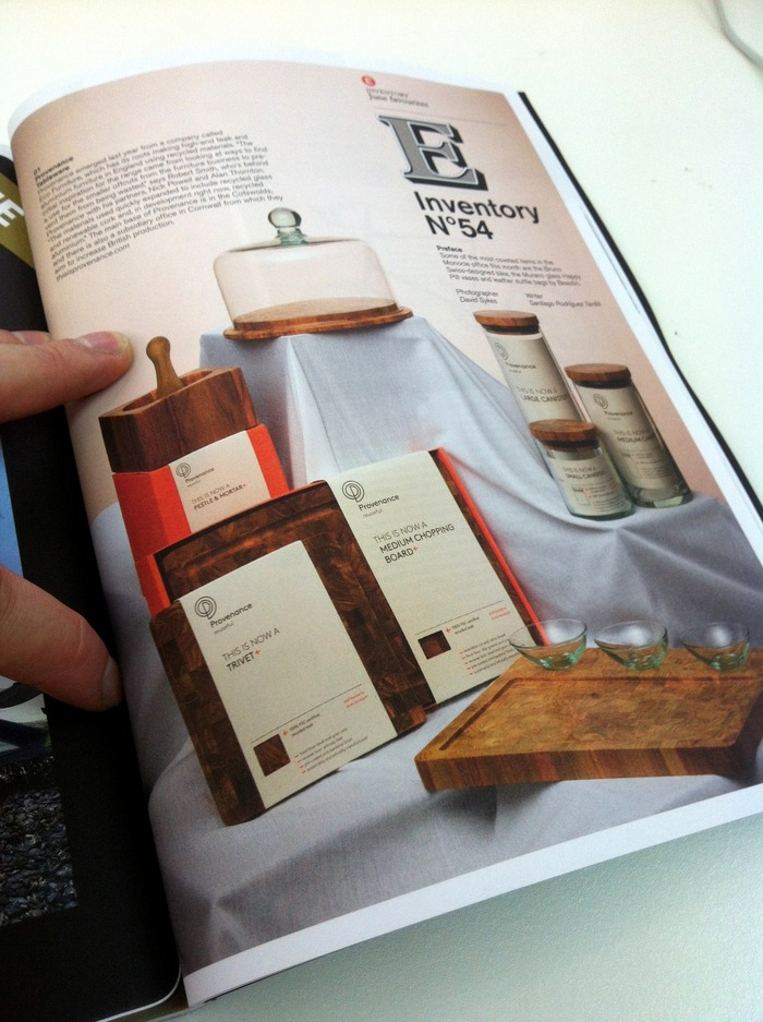 Article on Provenance in Monocle magazine