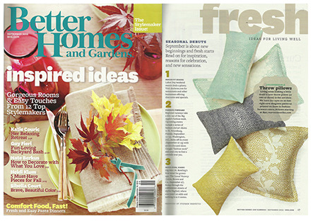 Better Homes and Gardens, Sept '12
