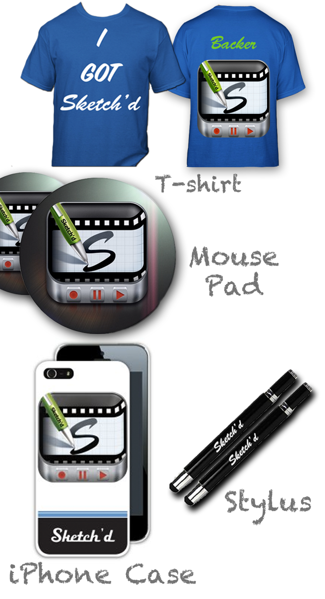 The Sketch'd Gear Set. Get all of this for $90, or at individual prices as stated on the rewards section.