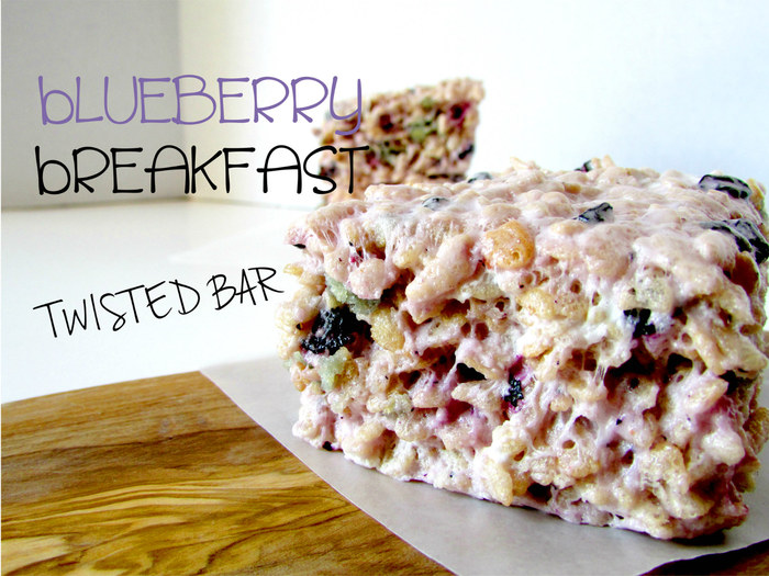Twisted Bar's Blueberry Breakfast Rice Krispy Treat