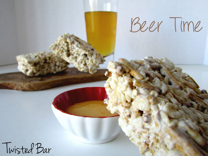 Beer & Pretzel Rick Krispy Treats? Now that's TWISTED!