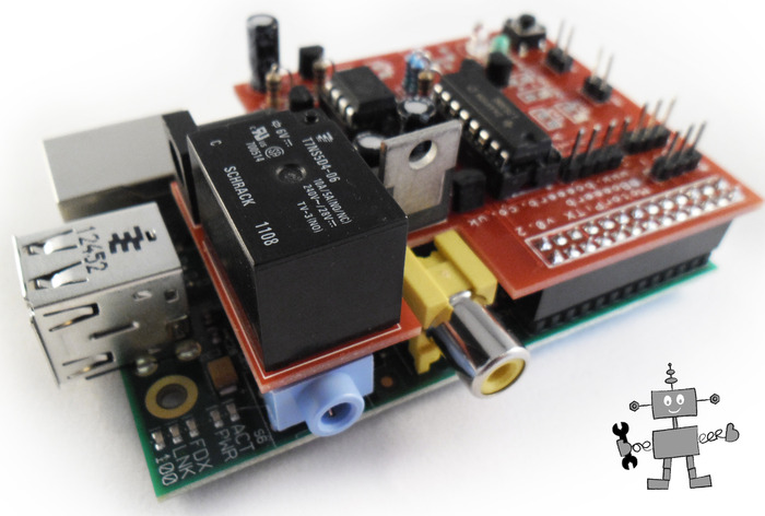 v0.2 MotorPiTX on a Raspberry Pi model B