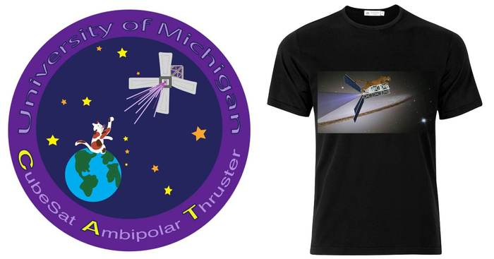 CAT Mission patch and t-shirt logo.