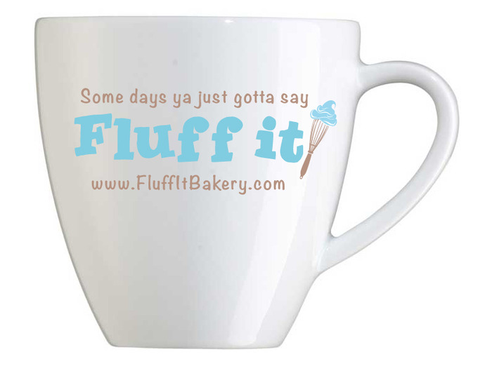 Fluff It! Mug comes with $100 & $500 Level or as an Add-on for an etra pledge of $12. GREAT for cocoa!