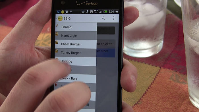 BBiQ™ App: Selecting a Recipe
