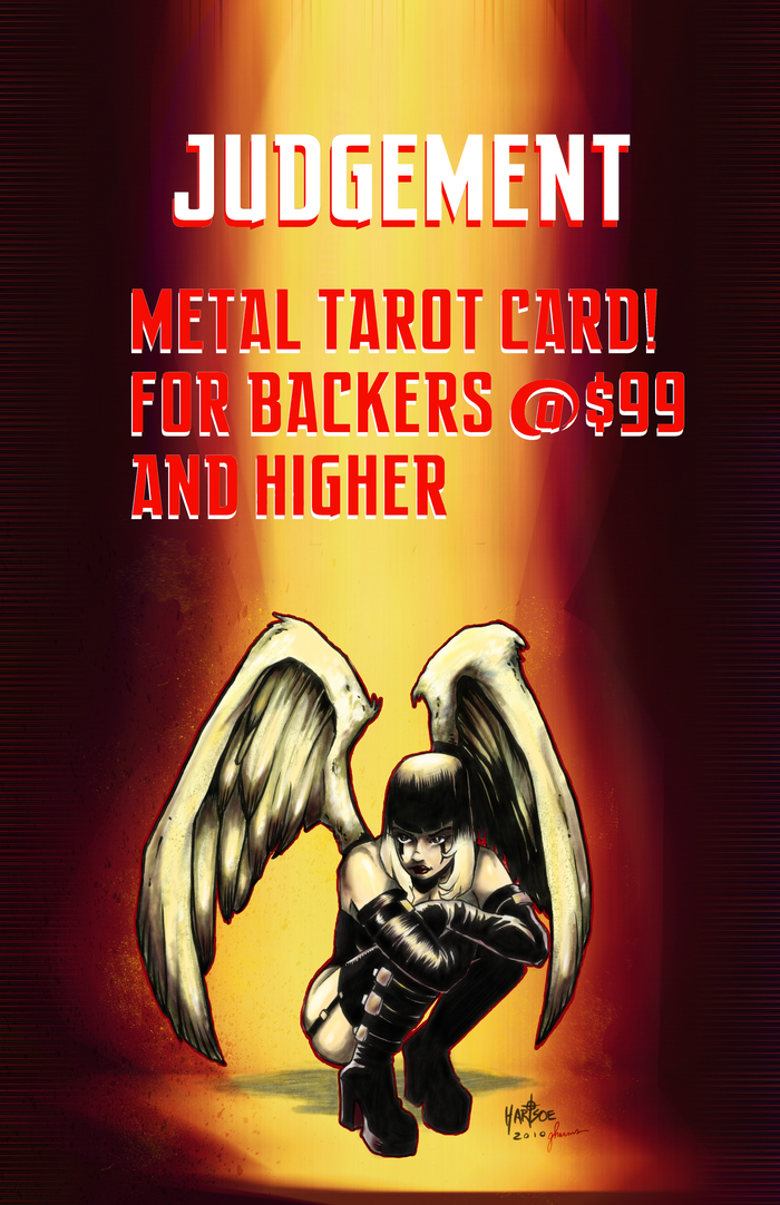 STRETCH GOAL$26K- RAZOR METAL TAROT CARD: JUDGEMENT