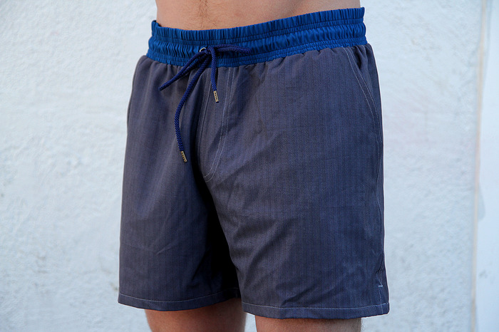 Blue Band on Herringbone (Size on Model - L/XL Regular)