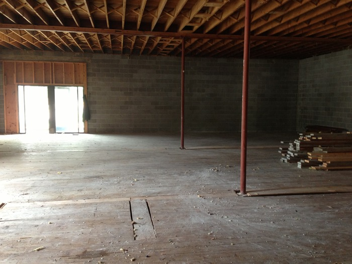 Inside the former Automated Building Components warehouse