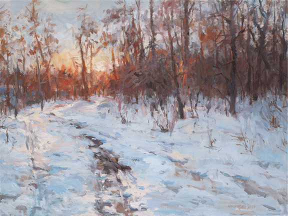 A Warm Winter Day, oil on canvas, 30 x 40 ins.