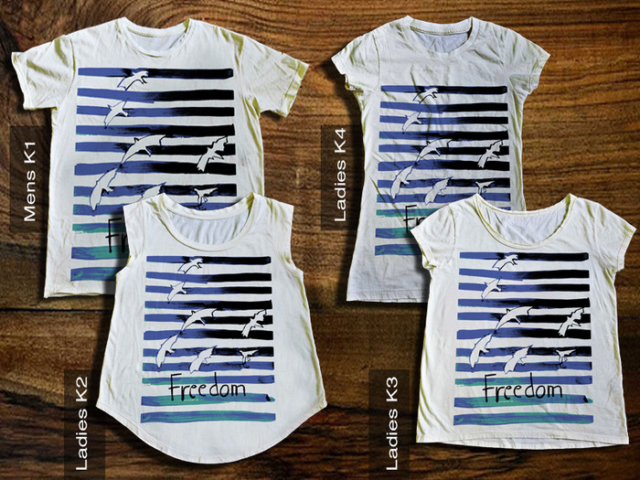 "$25 Reward: Any one of these Kickstarter Exclusive ""Freedom"" Tee Shirts"